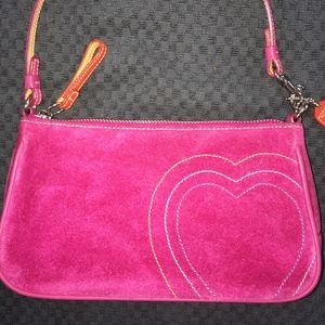"Pink Suede ""Coach"" Purse/Demi Pouch"